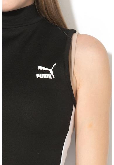 Puma Salopeta cu guler scurt si garnituri tubulare fara maneci T7 Femei