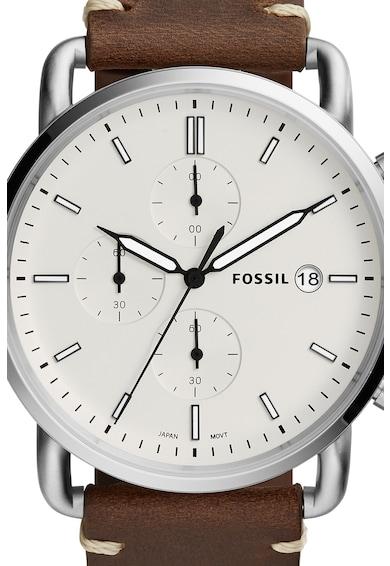 Fossil Часовник Commuter с кожена каишка Мъже