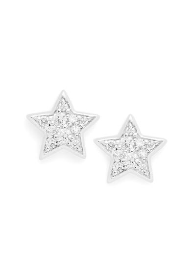 Fossil 925 sterling ezüst fülbevaló kristályokkal női