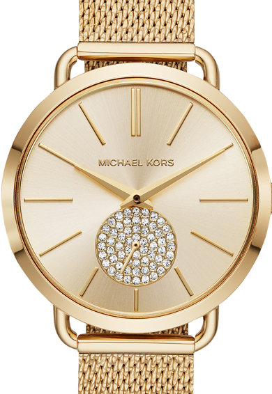 Michael Kors Часовник Portia от неръждаема с мрежеста верижка Жени