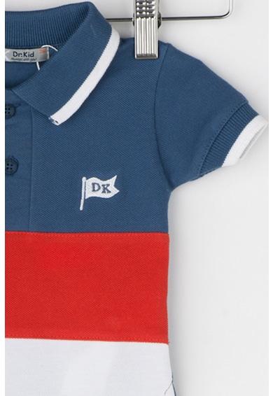 Dr. kid Тениска с яка и дизайн на цветен блок Момчета