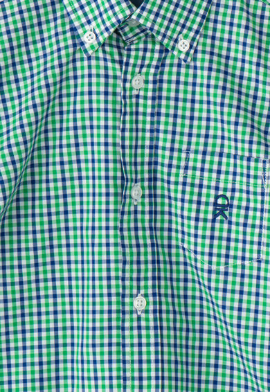 Dr. kid Camasa in carouri cu buzunar pe piept, Verde/Albastru inchis, 146 CM Baieti