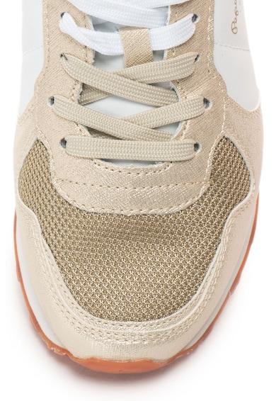 Pepe Jeans London Pantofi sport din piele sintetica cu garnituri cu paiete Verona Femei