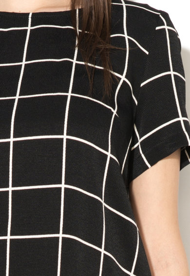 NISSA Bluza in carouri cu terminatie asimetrica Femei