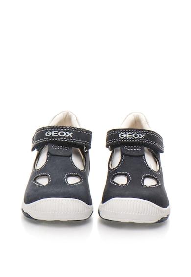 Geox Pantofi din piele intoarsa si piele cu bareta in forma de T New Balu Baieti
