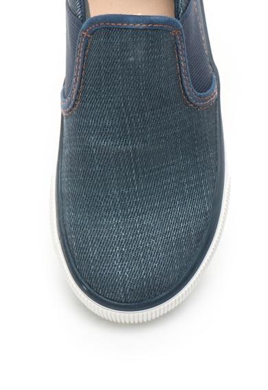 Geox Pantofi slip on din piele sintetica si denim Kilwi Baieti