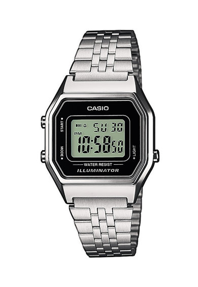 Casio Ceas cronograf digital cu bratara metalica Femei