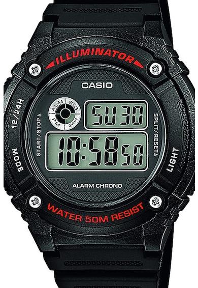 Casio Ceas cronograf digital cu o curea de rasina Barbati