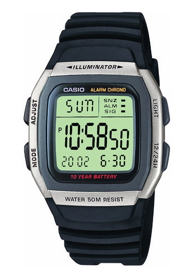 Casio Ceas cronograf digital unisex, cu o curea din rasina Barbati