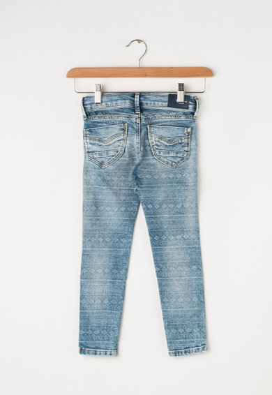 Pepe Jeans London Blugi skinny fit cu aspect decolorat Pixlette Fete
