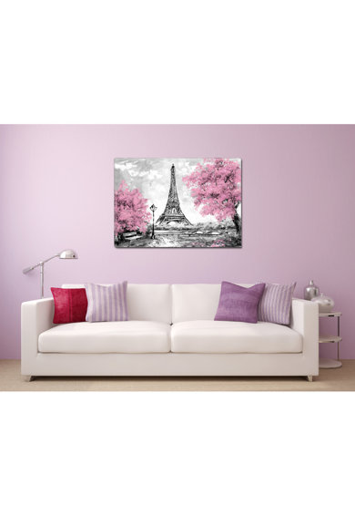 Startonight Tablou DualView  Parisul Roz, Abstract, Luminos in intuneric, 70 x 100 cm Femei