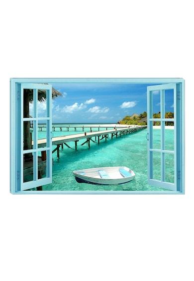 Startonight Tablou DualView  Raiul pe Pamant, Plaja, Luminos in intuneric, 70 x 100 cm Femei