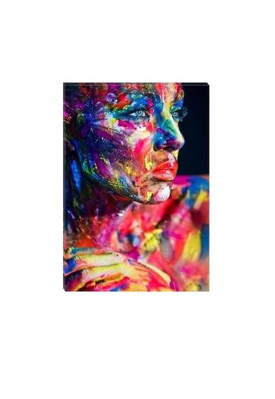 Startonight Tablou DualView  Femeie Pictata, Luminos in intuneric, 70 x 100 cm Femei