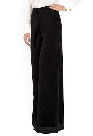 BADEN 11 Pantaloni ampli, catifelati, cu talie inalta Femei