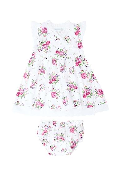 JoJo Maman Bebe Set de rochie evazata cu imprimeu floral si chiloti Fete