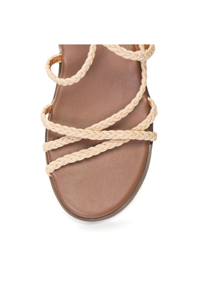Release Sandale cu talpa joasa si barete impletite subtiri Femei