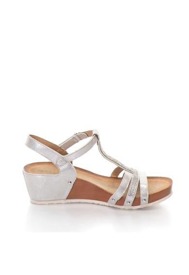Release Sandale cu platforma si bareta cu strasuri, piele sintetica Femei