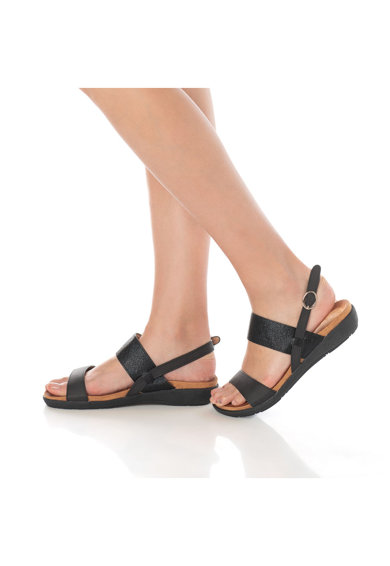 Release Sandale cu talpa joasa si bareta de elastic,  Piele sintetica Femei