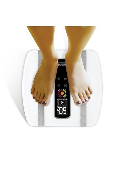 Tefal Cantar corporal  BodySignal , 160kg, 100g, 4 memorii, afisaj Lcd iluminat, Alb Femei