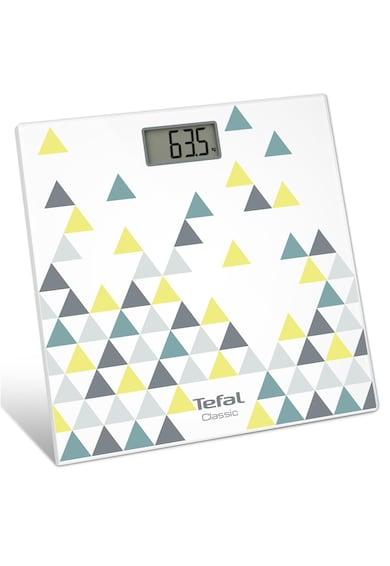 Tefal Cantar corporal  Décor PP1149V0, 160kg, 100g, Lcd, 30x30cm, Alb/Abstract Femei