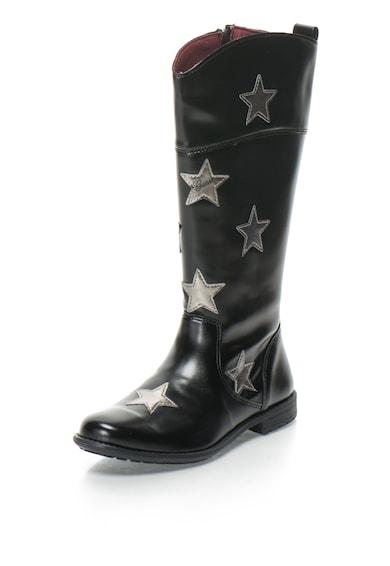GUESS JEANS Cizme de piele sintetica inalte pana la genunchi cu aplicatie cu stele Fete