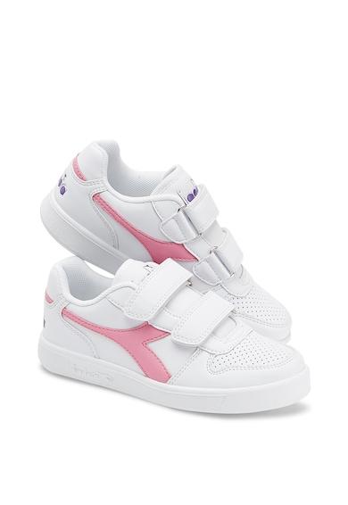 Diadora Pantofi sport de piele sintetica cu velcro PLAYGROUND PS Baieti