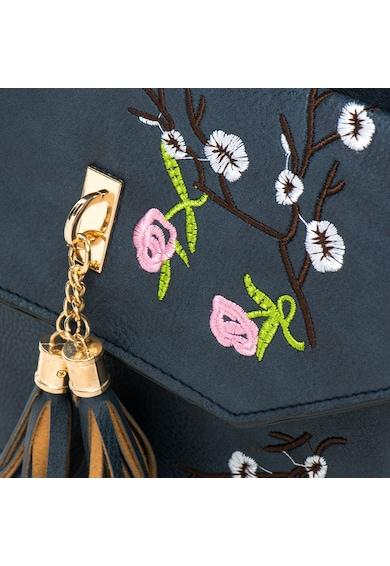 Release Rucsac cu flori cusute si doi canafi,  piele artificiala Femei