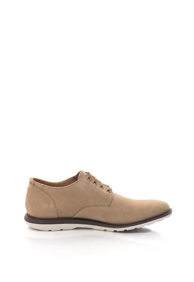 Clarks Pantofi casual din piele nabuc Glaston Barbati