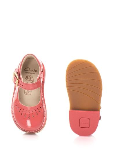 Clarks Pantofi din piele lacuita cu catarama Yarn Fete
