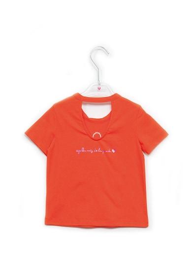 Agatha Ruiz de la Prada Тениска с апликация отпред и отвор отзад Момичета