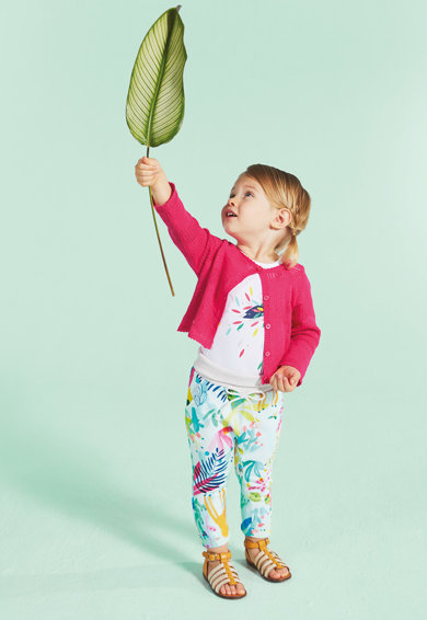 Catimini Pantaloni sport cu imprimeu tropical Fete