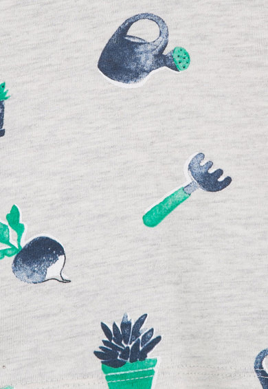 Catimini Set de tricou si pantaloni scurti cu imprimeu Baieti