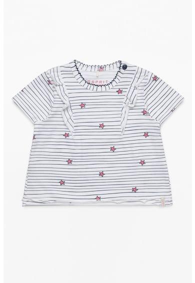 Esprit Csíkos póló fodros részletekkel Lány