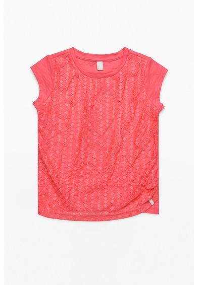 Esprit Релефна тениска с набиране отпред Момичета