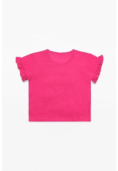 Esprit Тениска с текстова апликация Момичета