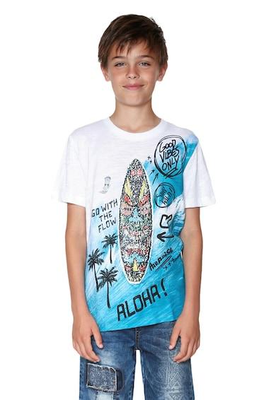 DESIGUAL Тениска с овално деколте и фигурална шарка Момчета