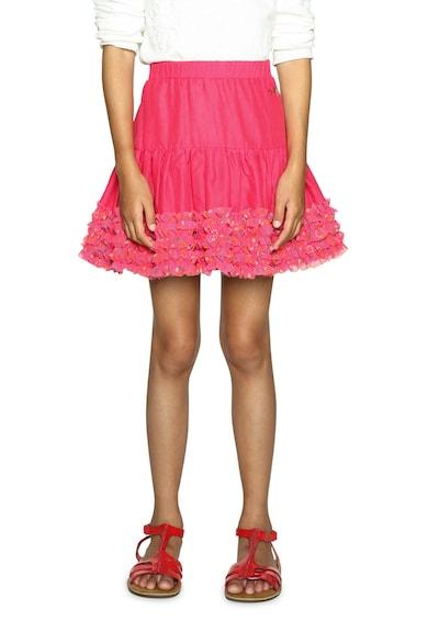 DESIGUAL Къса разкроена пола с шарки Момичета