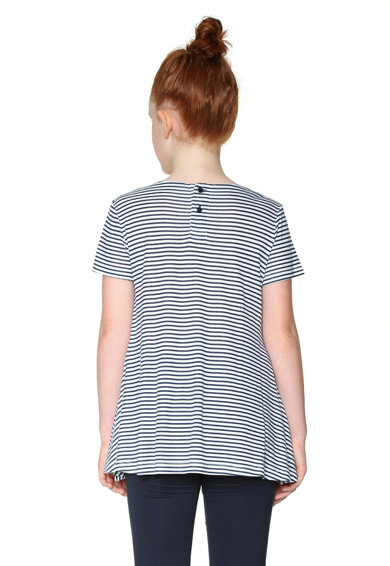 DESIGUAL Раирана тениска с овално деколте Момичета