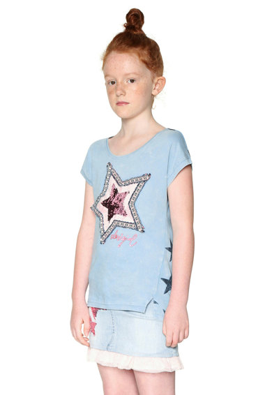 DESIGUAL Hímzett és flitteres póló Lány