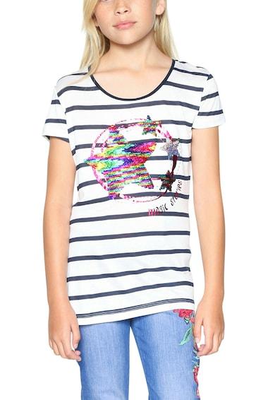 DESIGUAL Тениска с овално деколте и фигурална шарка отпред Момичета
