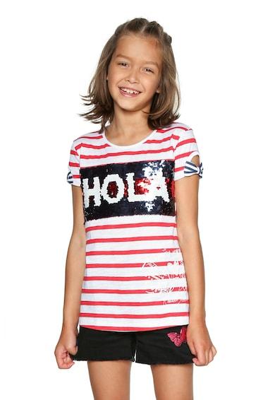 DESIGUAL Póló kétoldalú flitterekkel Lány