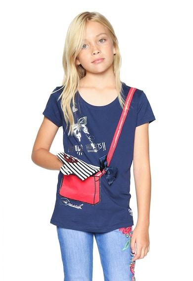 DESIGUAL Тениска с панделка и пайети Момичета