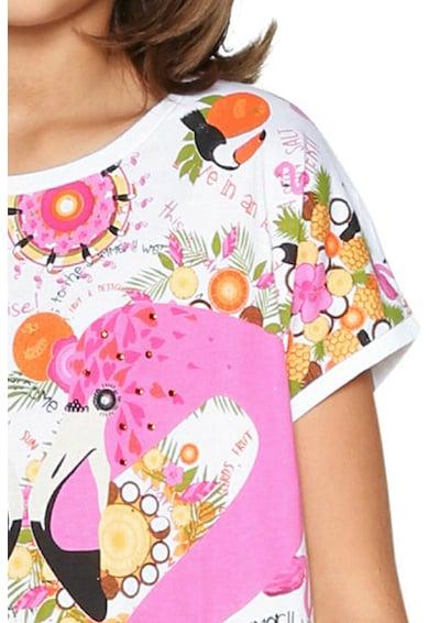 DESIGUAL Trópusi mintás póló Lány