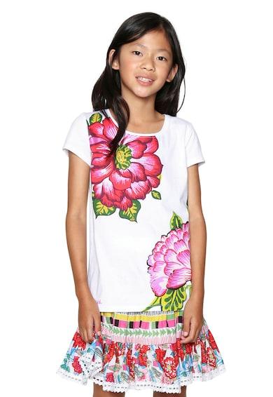 DESIGUAL Tricou cu decolteu rotund si imprimeu floral Fete