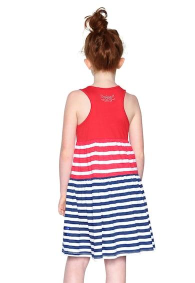 DESIGUAL Ujjatlan, mintás ruha kétoldalú flitterekkel Lány