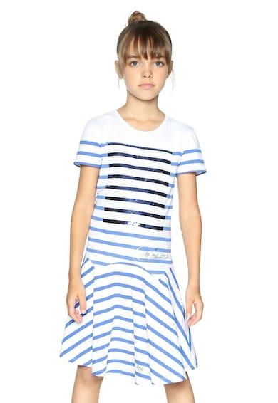 DESIGUAL Разкроена рокля с двулицеви пайети Момичета