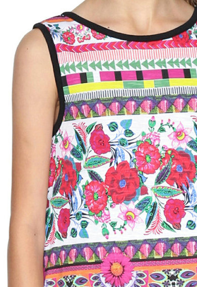 DESIGUAL Mintás ruha redőzött szegéllyel Lány