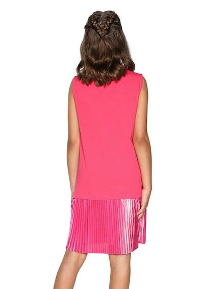 DESIGUAL Комби рокля с разнороден десен и набирания Момичета