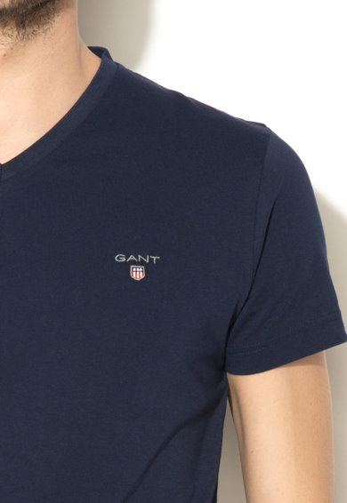 Gant Tricou slim fit cu decolteu in V Barbati
