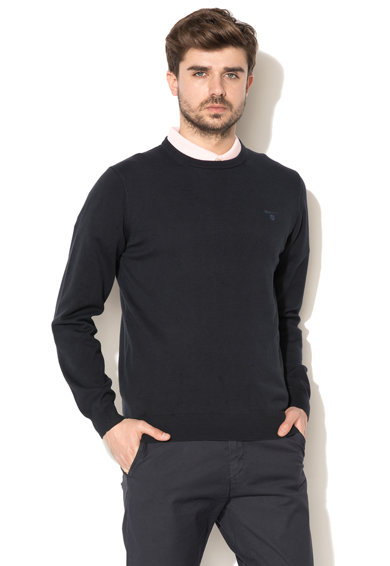 Gant Пуловер с фина плетка и овално деколте Мъже